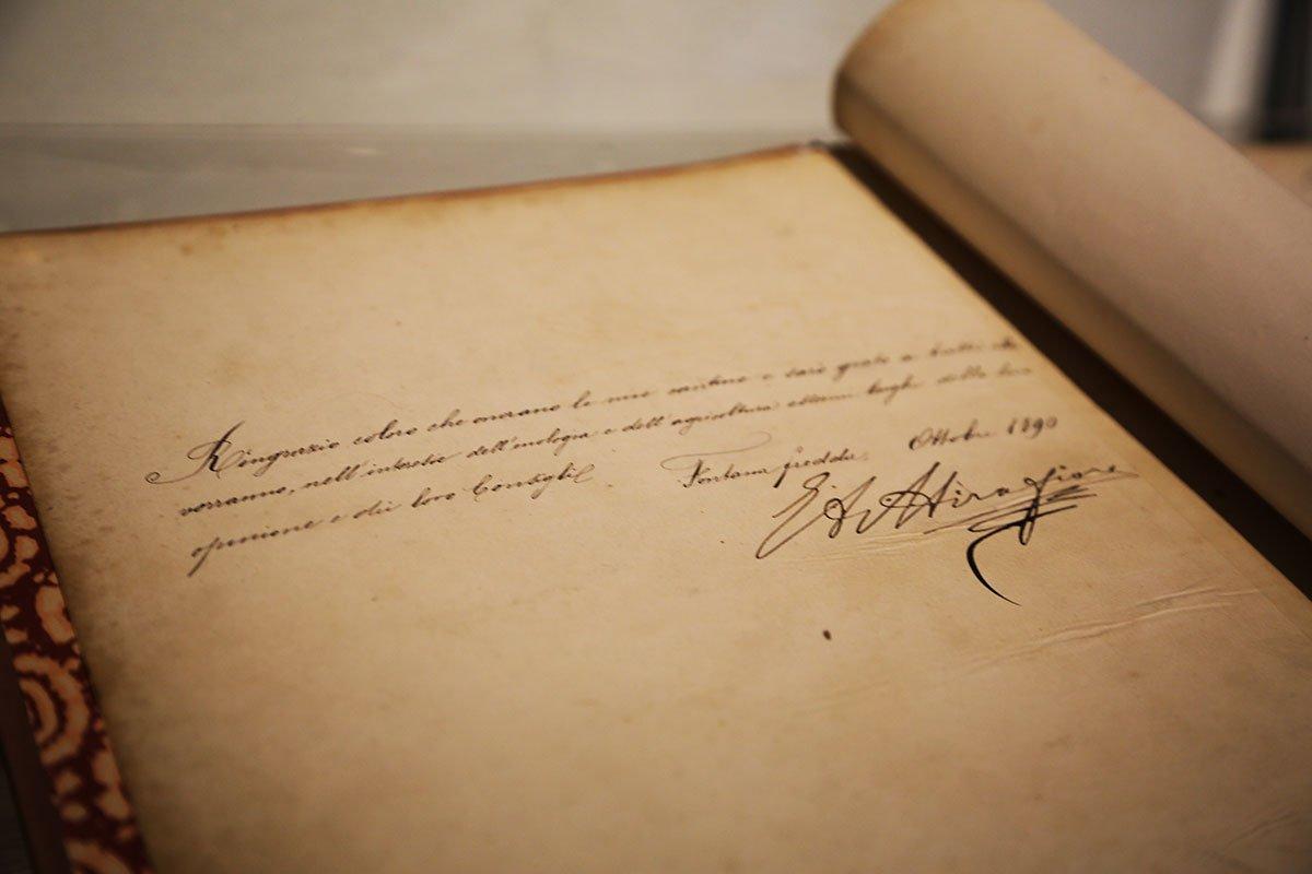Lettera firmata da Emanuele Alberto